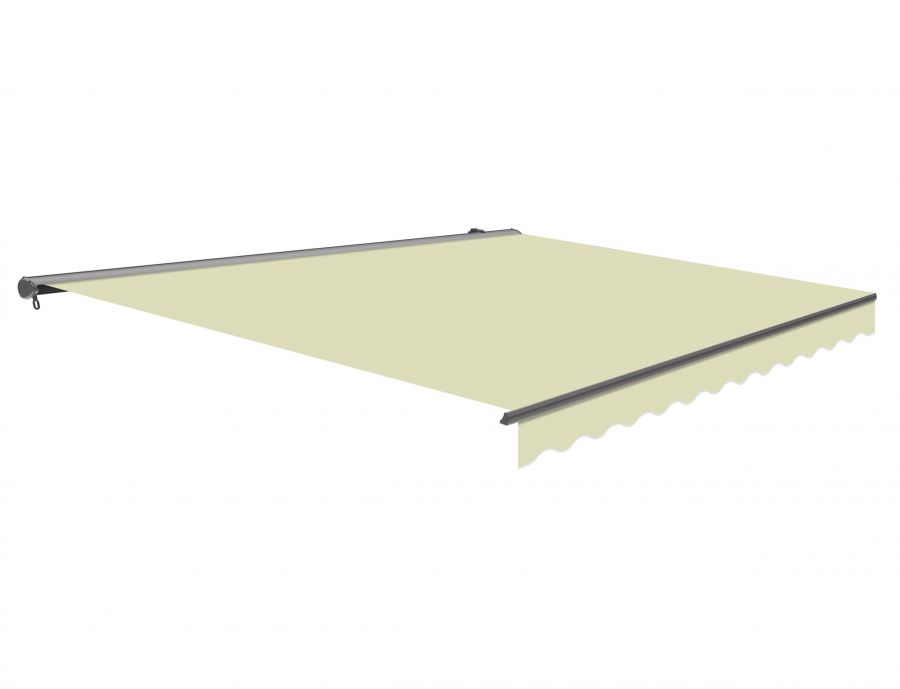 3m Half Cassette Manual Ivory Awning (Charcoal Cassette)
