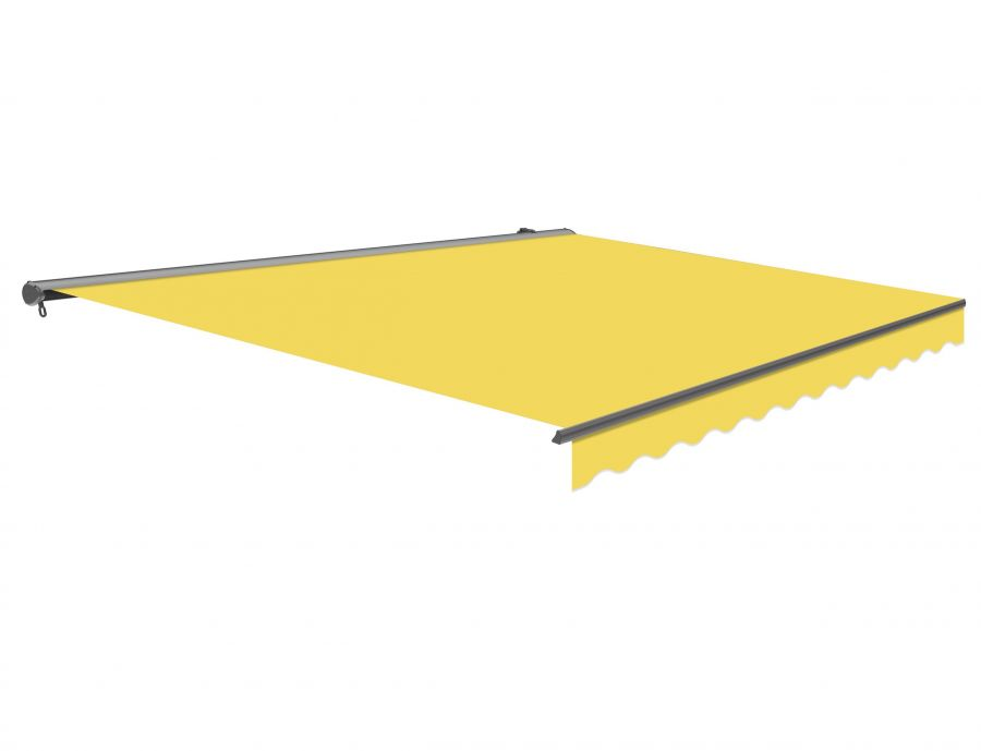 3m Half Cassette Manual Lemon Yellow Awning (Charcoal Cassette)