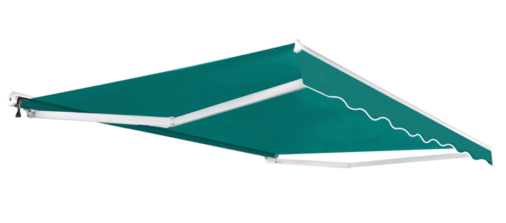 2.5m Half Cassette Electric Awning, Turquoise