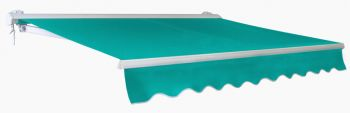 4.0m Half Cassette Manual Awning, Turquoise