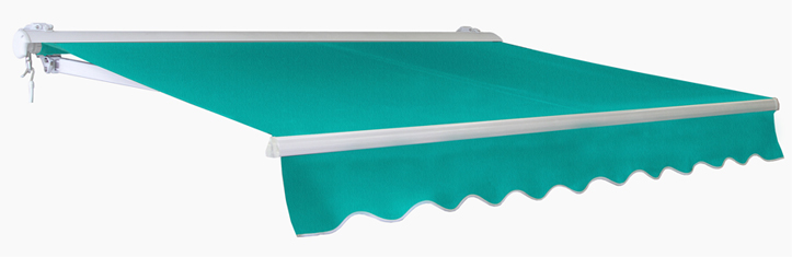 2.5m Half Cassette Manual Awning, Turquoise