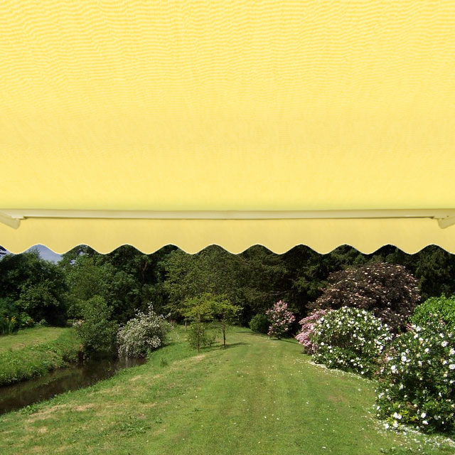 3.5m Half Cassette Manual Awning, Lemon Yellow