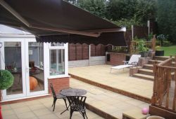 Half Cassette 3.5m Charcoal Awning