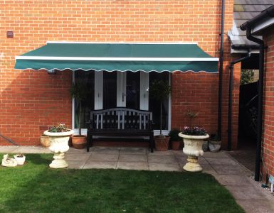 3.0m Standard Manual Awning, Plain Green