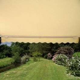2.0m Half Cassette Electric Awning, Ivory