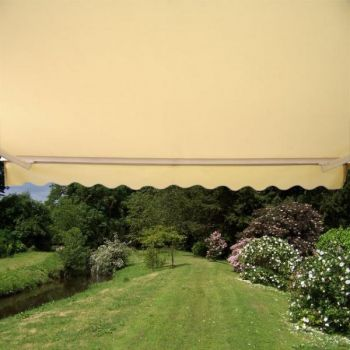 4.0m Half Cassette Electric Awning, Ivory