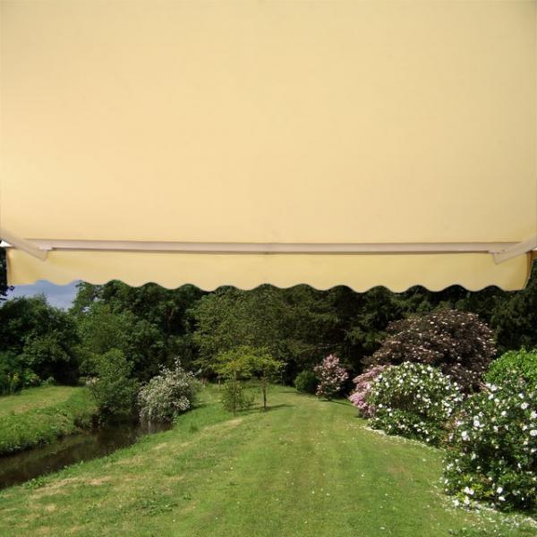 4.5m Half Cassette Electric Awning, Ivory