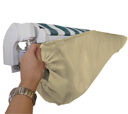 5m Ivory Protective Awning Rain Cover / Storage Bag with Velcro