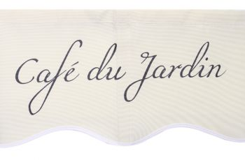 3m Café Du Jardin on Ivory Replacement Awning Cover with Valance