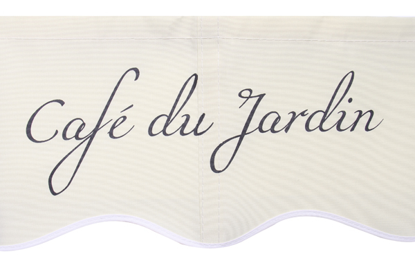 2.5m Café Du Jardin on Ivory Replacement Awning Cover with Valance
