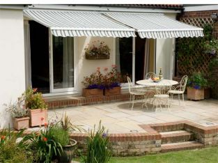 3.0m Standard Manual Awning, Multi Stripe
