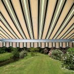 4.0m Half Cassette Electric Awning, Multi Stripe
