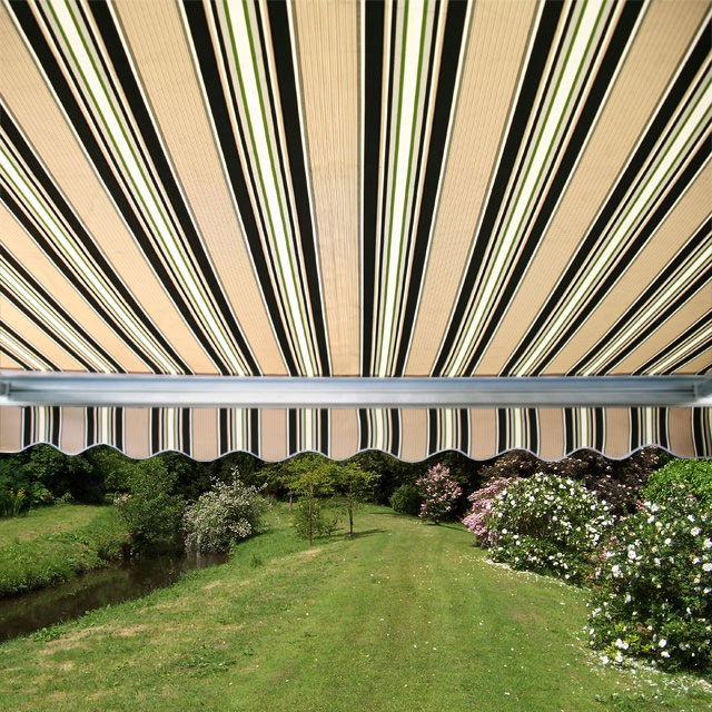 2.5m Full Cassette Electric Awning, Multi Stripe