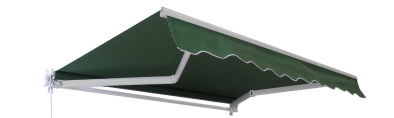 4.5m Standard Manual Awning, Plain green