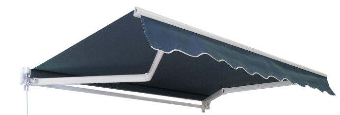 4.5m Standard Manual Awning, Plain Dark Blue