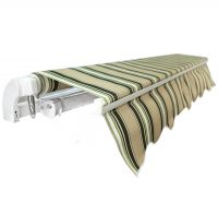 5.0m Standard Manual Awning, Green and White