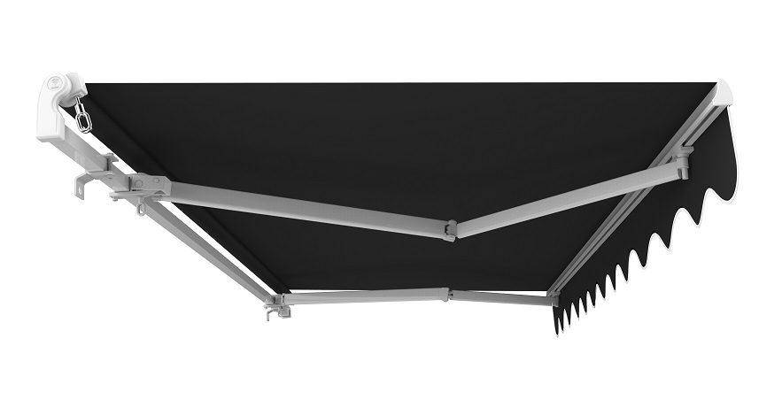 5m Standard Manual Awning, Charcoal