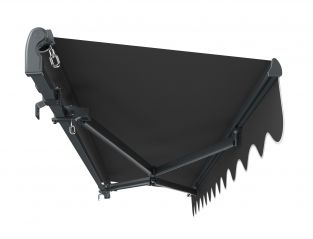 3m Standard Manual Charcoal Awning (Charcoal Cassette)