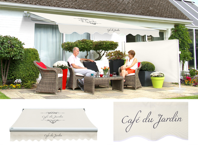 Standard manual caf du jardin ivory awning for Cafe du jardin london