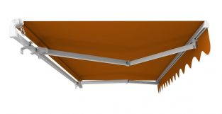 5m Standard Manual Awning, Terracotta