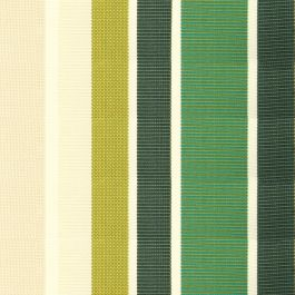 Green Stripe Acrylic Cover for 2m x 1.5m Awning includes valance