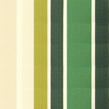 Green Stripe Acrylic Cover for 4.5m x 3m Awning includes valance