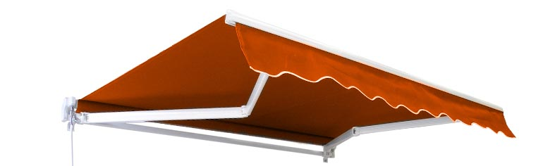 2.5m Standard Manual Awning, Terracotta