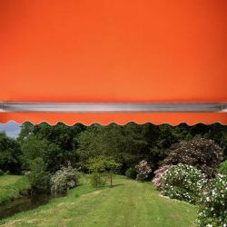 5.0m Full Cassette Manual Awning, Terracotta Polyester