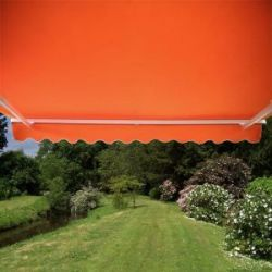 6.0m Full Cassette Electric Awning, Terracotta Polyester