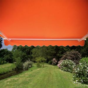 4.0m Half Cassette Electric Awning, Terracotta