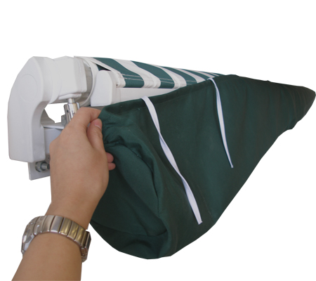 4m Plain Green Protective Awning Rain Cover / Storage Bag